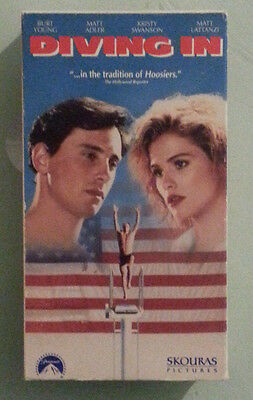 matt adler DIVING IN burt young / kristy swanson  VHS VIDEOTAPE screener