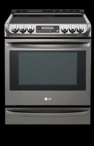 LG LSE5613BD Cuisiniere Convection, 5 bruleurs, Convection: Oui