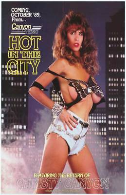 Hot in the City (1989) Christy Canyon Peter North Adult Porn Movie Poster 27x40](Adults Hot Movies)