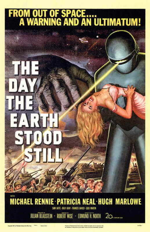 THE DAY THE EARTH STOOD STILL Movie Promo POSTER Michael Rennie Patricia Neal
