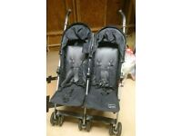 *COLLECTION ONLY* Mama's & Papa's twin stroller in black