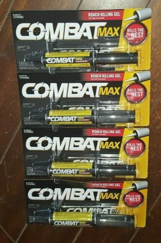 4 x Combat Max Roach Killing Gel (1 - 1.05 oz. Syringe Each)