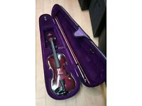 PURPLE 3/4 SIZE VIOLIN OUTFIT