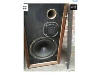 Vintage Goodmans Minister SL Wooden Bookcase Speakers 8 Ohms 20w UK Loudspeakers