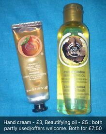 Body Shop Items