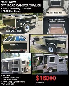 Near NEW -OFF  ROAD CAMPER TRAILER - Hard Floor Jindalee Brisbane South West Preview