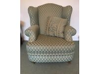 Elegant Barker Stonehouse wingback armchair