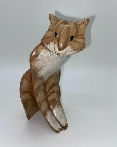 Lynda Pleet Orange Tabby Cat Menagerie Figurine Sculpture 94 Hand Painted Resin