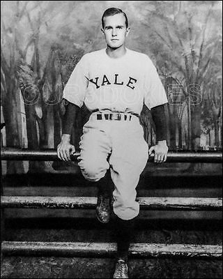 George H W Bush Photo 8X10   1948 Yale Baseball President Buy Any 2 Get 1 Free