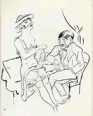 George GROSZ - ENTKLEIDUNG - HAHN im KORBE - Im SÉPARÉ 3 Blatt a.ECCE HOMO 1923