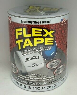 Flex Seal Strong Rubberized Waterproof Flex Tape 4 X 5 Clear