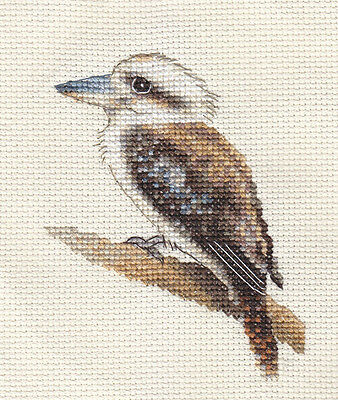 LAUGHING KOOKABURRA, Bird, Full counted cross stitch kit + all materials