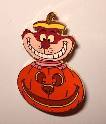 Disney Pin Trading Cheshire Cat Halloween Jack-o-Lantern Pumpkin Disney Auctions