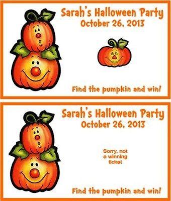 Halloween Scratch Off Tickets (Halloween Pumpkins Party Scratch Off Tickets Game Cards Favors)