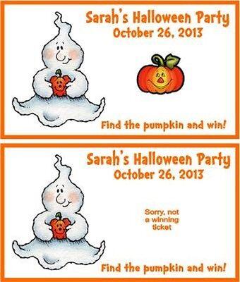 Halloween Scratch Off Tickets (Halloween Pumpkin Ghost Party Scratch Off Tickets Game Cards Favors)