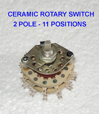 Rotary Switch Ceramic 2p11t 2-pole 11-positions Silver Contacts