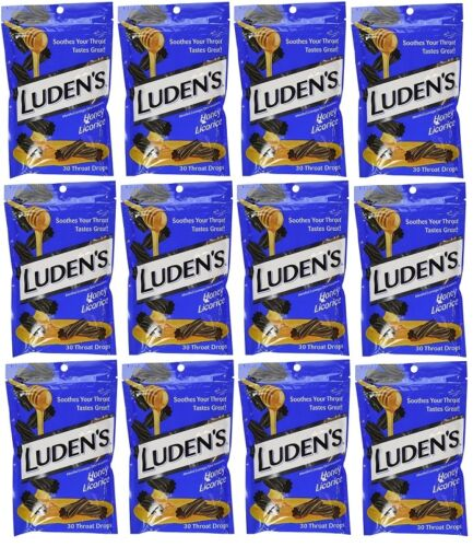 LUDENS 12 Bags Of Luden's Honey Licorice Throat Drops 30 ...