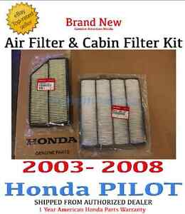 honda pilot fuel filter replacement 2008 honda pilot fuel filter location genuine honda pilot engine air cabin filter 2003 2008 | ebay #10