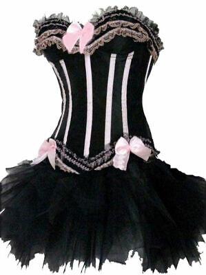 Pink Corset and Tutu Moulin Rouge Burlesque Basque - Moulin Rouge Kostüm Party