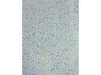 White Sparkle PVC shower panel