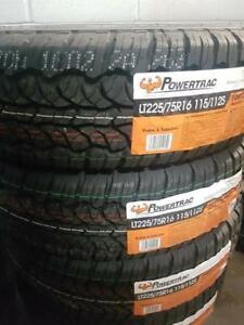 LT225/75R16 BRAND NEW SET ALL SEASON TERRAIN TIRES 10 PLY POWERTRAC 225/75R16 WHEELS 225 75 16 LT