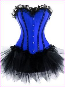 Burlesque Moulin Rouge Can Can Tutu Fancy Dress Costume Corset Outfit Many Style