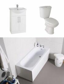 Bathroom suite with vanity unit