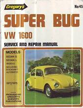 VW VOLKSWAGEN SUPER BUG 1600 WORKSHOP SERVICE MANUAL 1971-75 Sefton Bankstown Area Preview