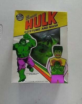 Vintage INCREDIBLE HULK Halloween COSTUME Ben Cooper 1977 boxed GREAT COND NICE](Incredible Hulk Halloween)