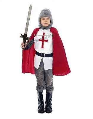 Kinder Mittelalterlich Jungen Ritter st Georg England Kreuzfahrer - St George Kostüm Kind