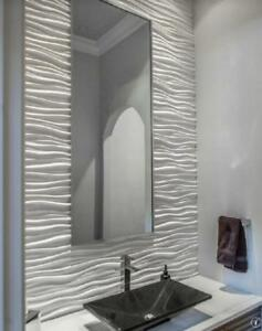 Wavy white glossy tile.  ONLY $2.59 sf!!  Wall tile in a large format size. In stock!  Greet feature wall or backsplash Windsor Region Ontario Preview