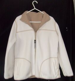 Ladies Reversible Jacket (New with Tag) in Stone and Cream.