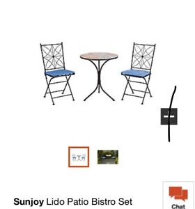 SUNJOY 3-PIECE BISTRO SET (NEW) FOR YOUR GARDEN OR PATIO