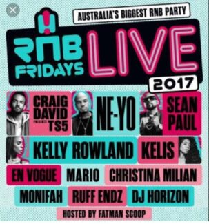 2 x Tickets to RNB Friday's