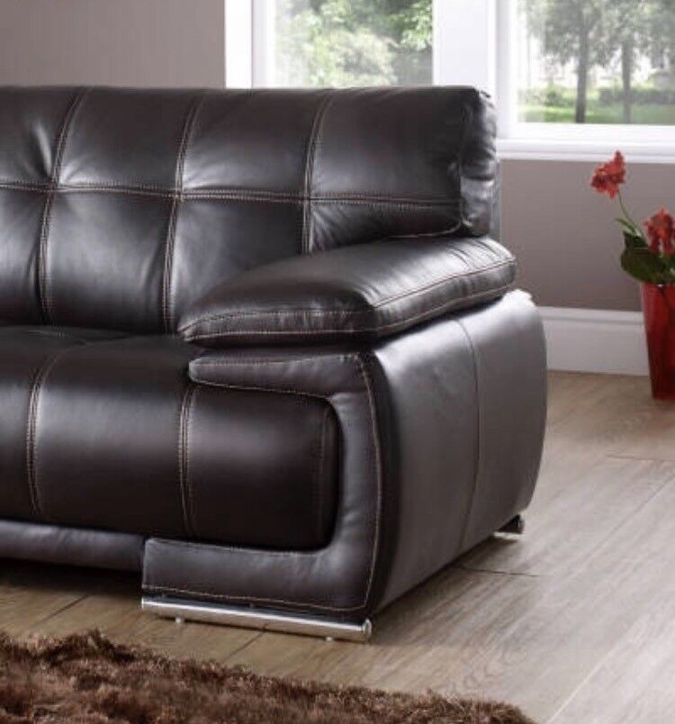 Volina Csl Brown Leather Sofa In Blyth Northumberland