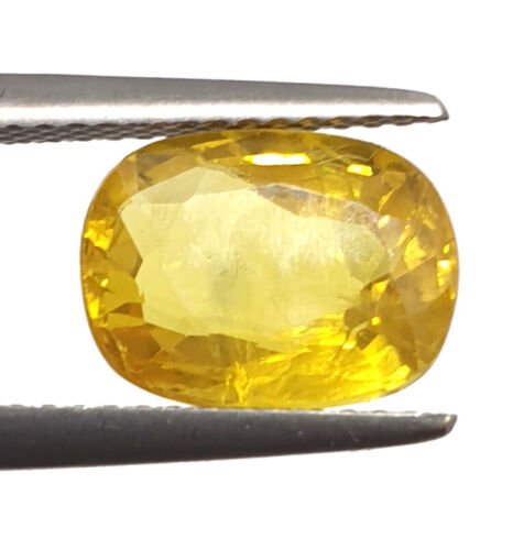 3.80 Ct Natural Yellow Sapphire Certified Super Premium Quality Loose Gemstone