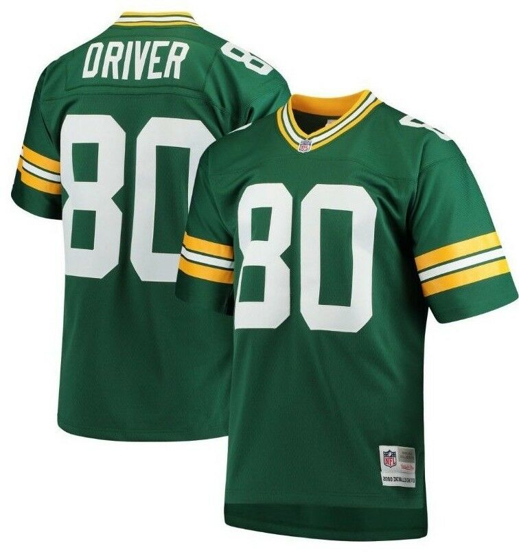 dc785603 Details about Mitchell & Ness Donald Driver #80 NFL Green Bay Packers Green  Replica Jersey