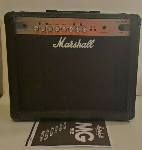 Marshall MG30CFX  30W Electric Guitar Amp Carbon Fiber Tolex Black & Silver