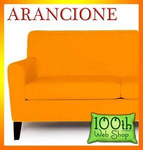 Copridivano bielastico 2 posti 140 180 cm copri divano elastico arancione cda2 ebay - Divano 180 cm ...