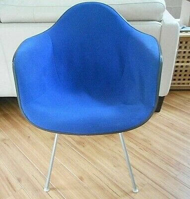 Original Mid-Century Herman Miller Eames Fiberglass Shell Arm Chair BLUE COVER  for sale  Grand Rapids