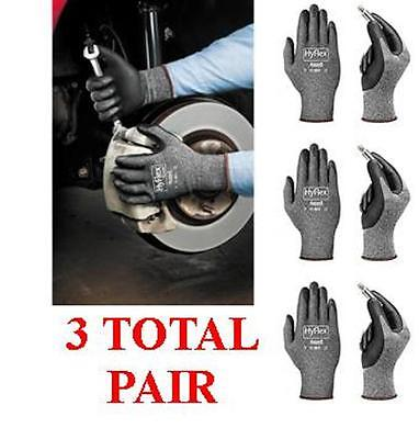 Ansell Hyflex 11-801 Foam Nitrile Coated Glove - 3 Total Pair - Choose Size 910