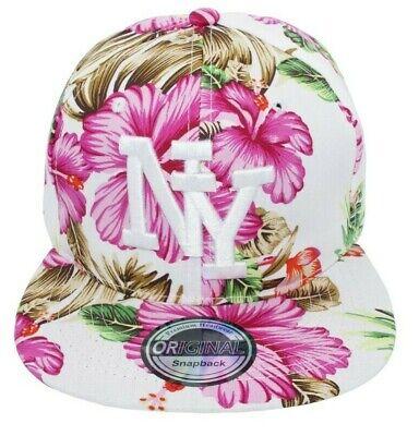 Cappy Kappe Cap Basecap Damen Damenkappe Mütze Sommer Freizeit NY Hawaii pink Brim Baseball Cap