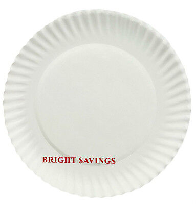 1000 White Paper Plates - 6 inches Diameter