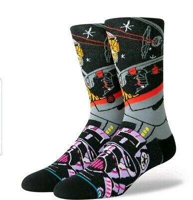 STANCE x Star Wars Warped Pilot Crew Socks sz M Medium (6-8.5) Empire Rebel