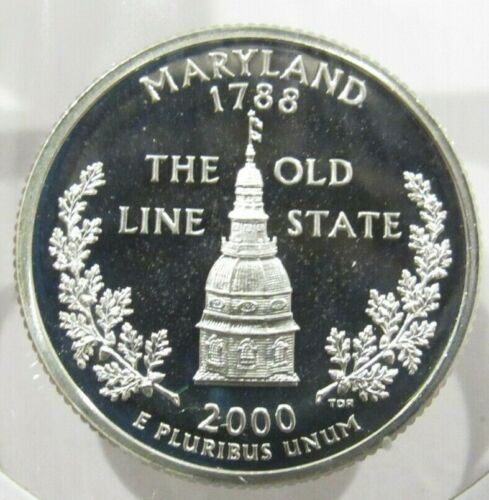 2000-S Maryland 90% Silver Quarter Proof Coin - San Francisco