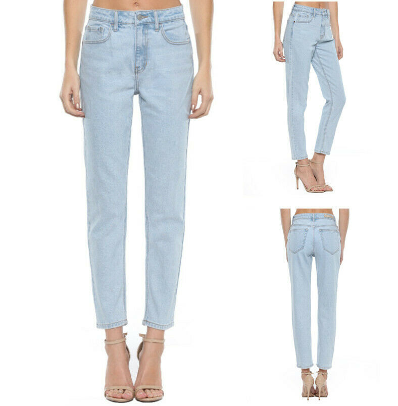 Women's High Rise Slim Straight Denim Jean by Cello Clothing, Shoes & Accessories