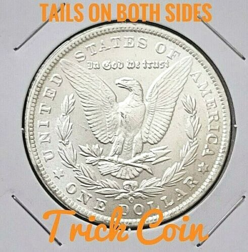 Two Sided Tails 1895 Morgan Silver Dollar Two Face Trick Coin - Untoned