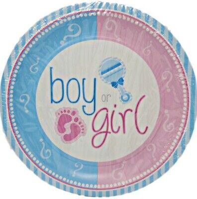 Gender Reveal 9-inch Paper Plates - 8 ct (Halloween Gender Reveals)