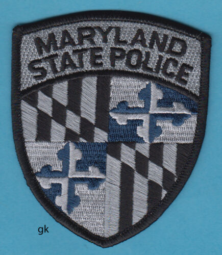 MARYLAND STATE POLICE SHOULDER PATCH (Subdued -Gray)