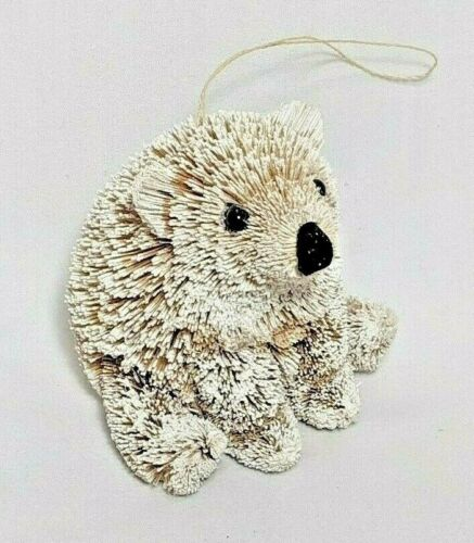 Pottery Barn Snowy Polar Bear Bristle Bottle Brush Christmas Ornament